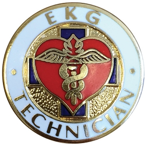 EKG Technician Emblem Pin