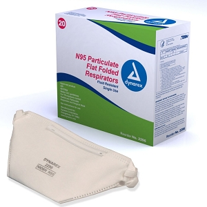 N95 Particulate Respirator Masks - Folded - Box of 20