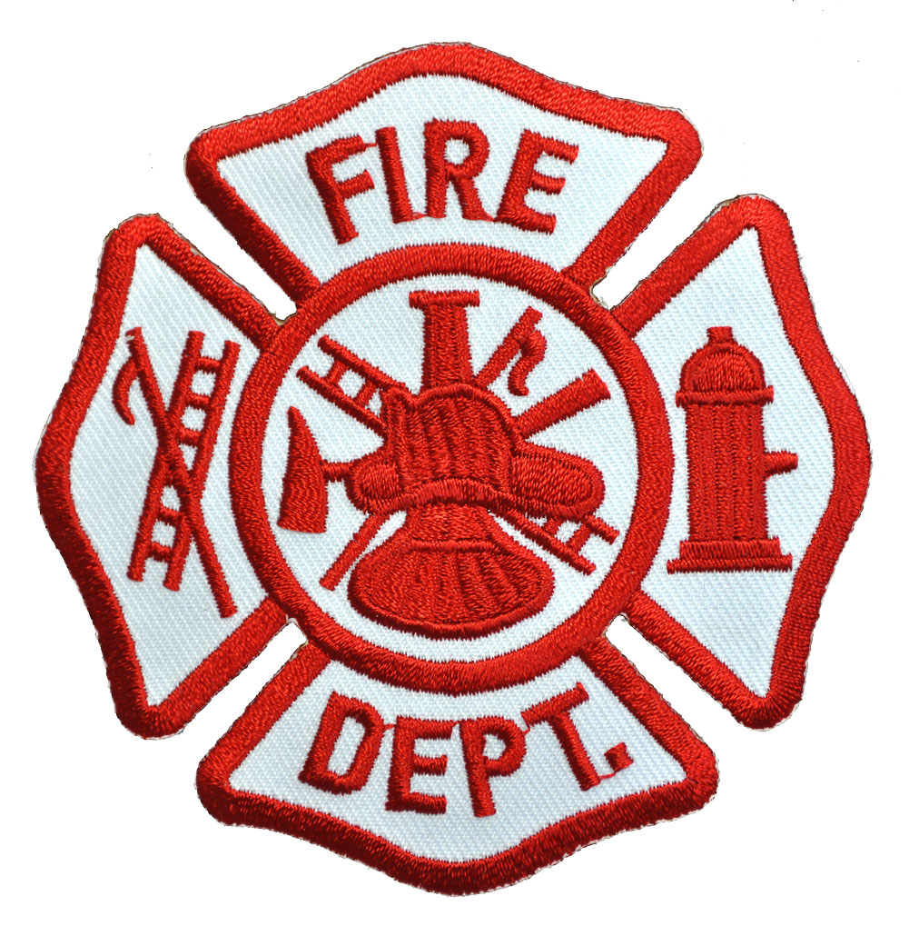 Fire Department Maltese Cross Embroidered Patch