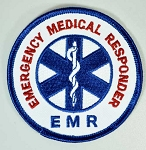 Embroidered Patch - EMR Emergency Medical Responder