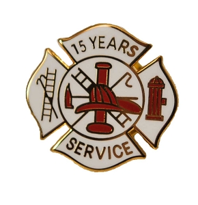 15 years Fire Service pin