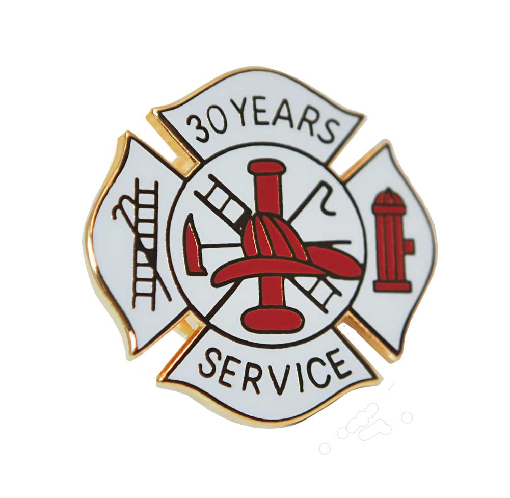 30 years Fire Service pin