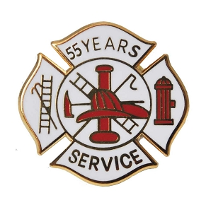 55 years Fire Service Pin