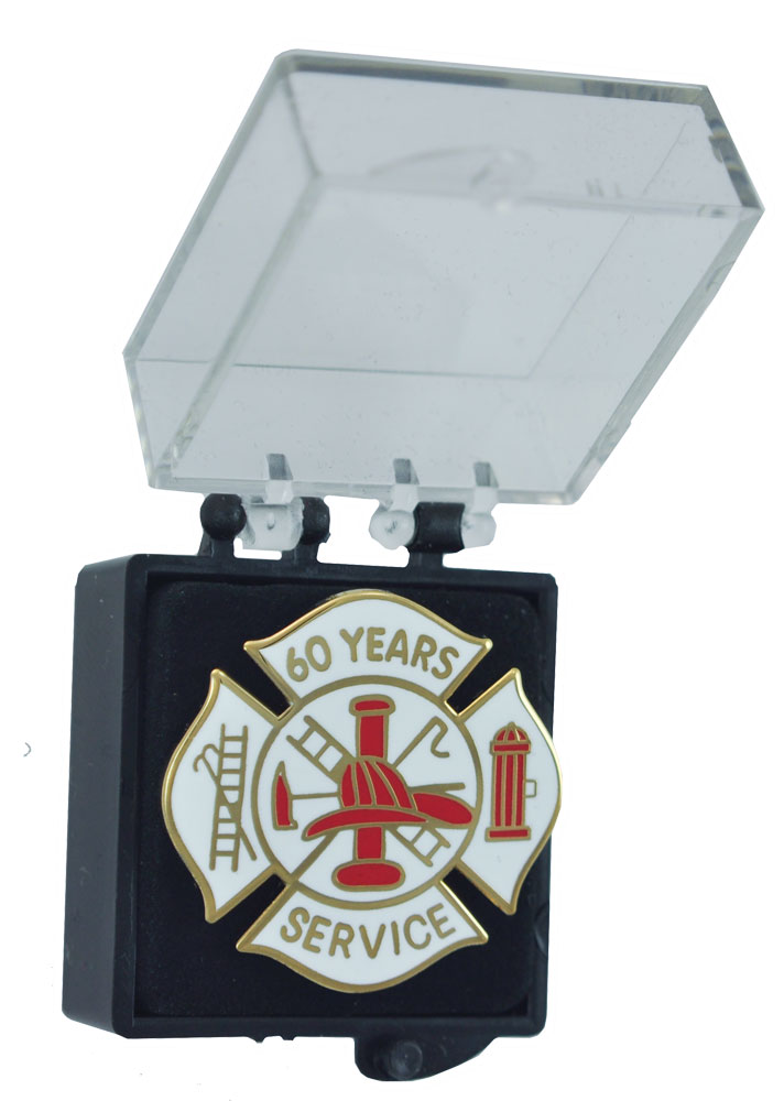 60 years Fire Service Pin