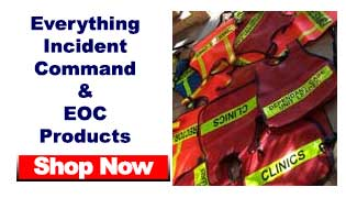 ICS Vests Incident command system vests for eoc, CP and  NIMS operations