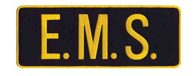 E.M.S. Back Patch Gold/Black