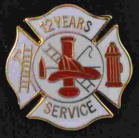 12 years Fire Service pin