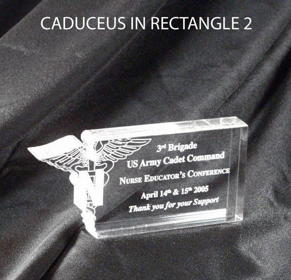 Nursing Caduceus in Rectangle Award - Medium