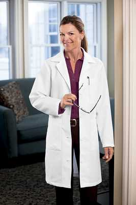 Womens 37 Inch Twill Labcoat