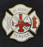 35 years Fire Service pin