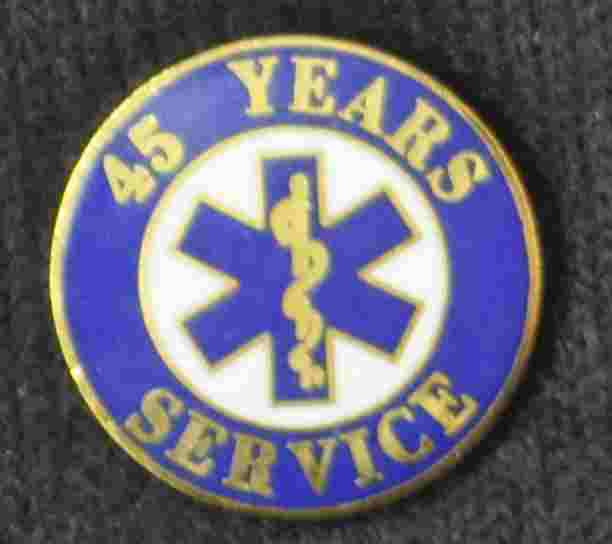 45 Year EMS Service Pin