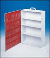 4 Shelf Industrial First Aid Cabinet with Swing Out Door