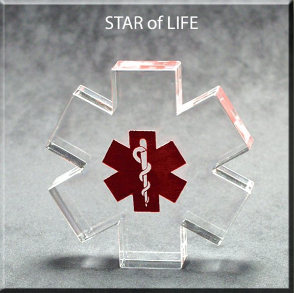 Star of Life Award - Large 6x6