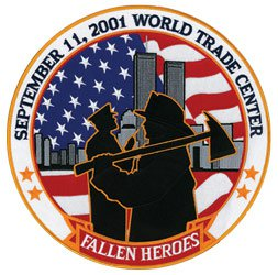 9/11 Fallen Heroes 12 inch Collector Patch