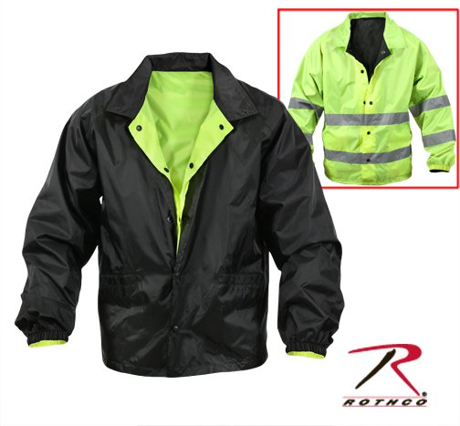 Hi-Visibility Reversible Yellow/Black Lightweight Jacket