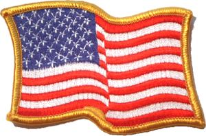 Embroidered Patch - Waving American Flag