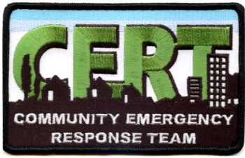 Embroidered Patch - Small CERT Patch chest patch 2 x 3 -1/2