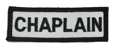 Chaplain Bar 1 x 3 White Patch