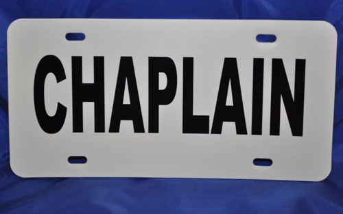 Chaplain Visor License Placard
