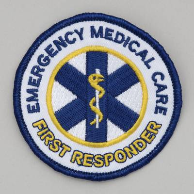 Embroidered Patch - Emergency Medical Care - First Responder 4 inch