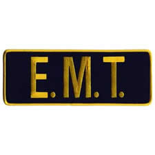 EMT Back Patch Gold/Black