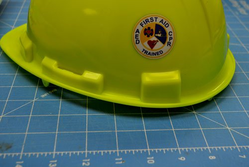 First Aid CPR AED Helmet Decals