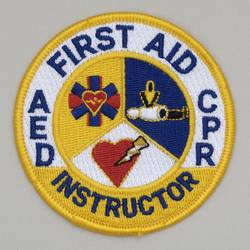 Embroidered Patch - 'First Aid CPR AED