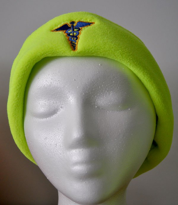 Hi-viz Medical Caduceus Micro Fleece Cap