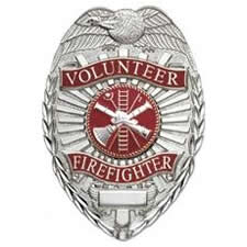 Volunteer Firefighter Shield Badge Scramble Choose Gold or Nickel