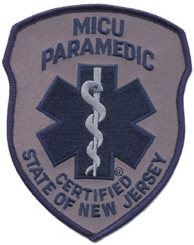 New Jersey MICU Paramedic Patch Navy on Grey