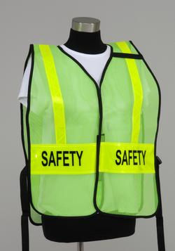 Split Front Style ICS Vest with reflective striping & Front/Back Title