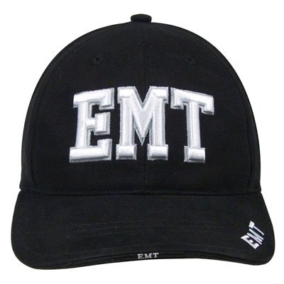 Deluxe Black Low Profile E.M.T. Ball Cap