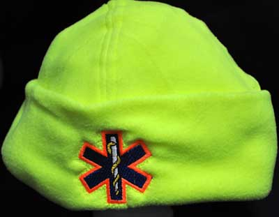 Hi-viz Star of Life Micro Fleece Cap