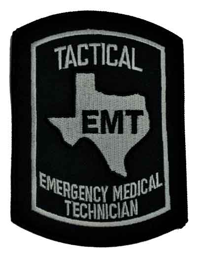 Texas Tactical EMT Embroidered Patch