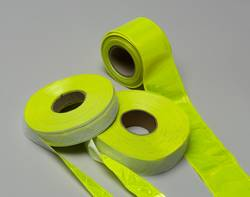 PVC Reflective Tape Yellow Embossed 1-3/8
