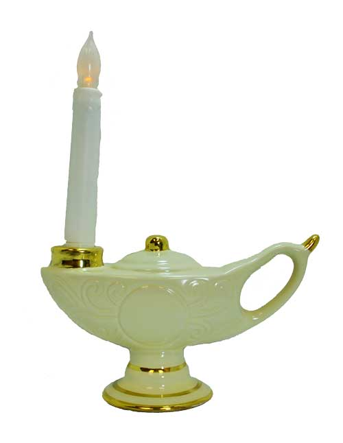 Large LED Graduation Lamp with Gold Trim