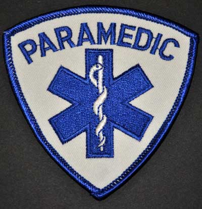 PARAMEDIC Shield Patch Blue