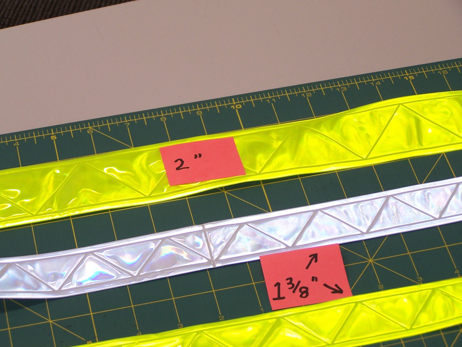 PVC Reflective Tape White Embossed 1- 3/8