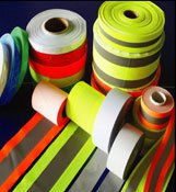 4in Yellow Tape with 2in Silver trim 100 yard roll