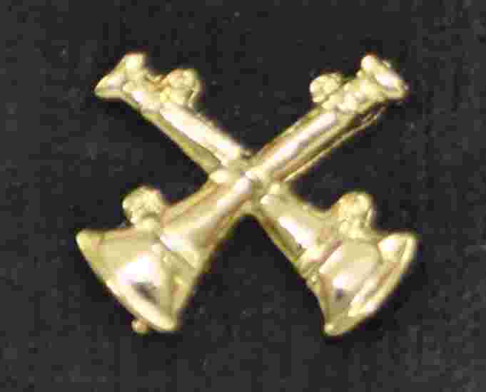 Fire Captain Double Crossed Bugle Die Cut Pins
