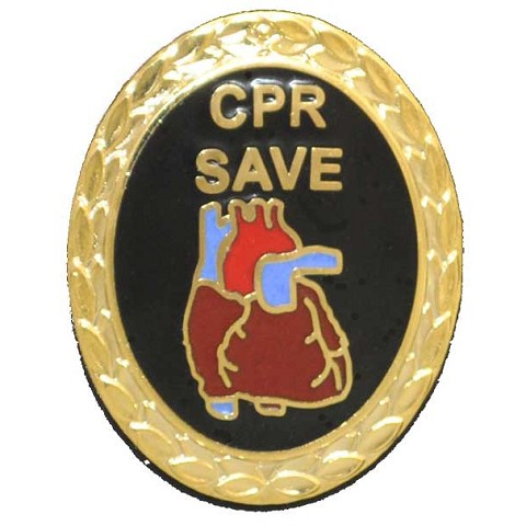 CPR Save Pin with Anatomical Heart
