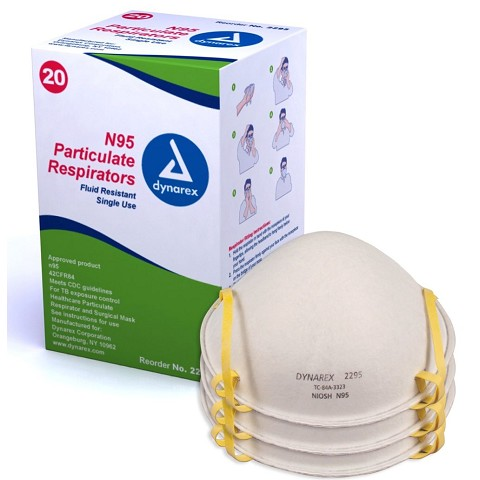 N95 Particulate Respirator Masks - Molded - Box of 20