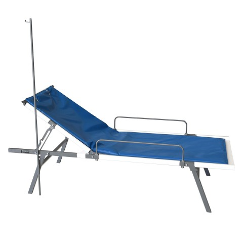 Special Needs Field Medical Cot with Rails and IV Pole