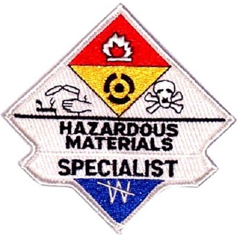 Hazmat Specialist Embroidered Patch