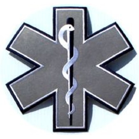 Reflective 7 inch Star Of life