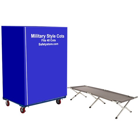40 Standard Shelter Cot set with Cart System