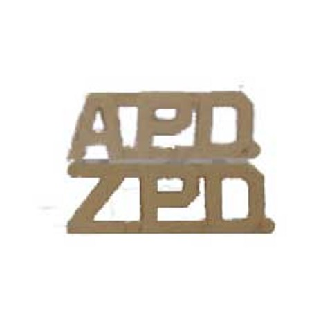 APD - ZPD Cut Out Police Letter Pins Pairs3/8