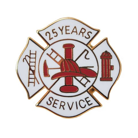 25 years Fire Service pin