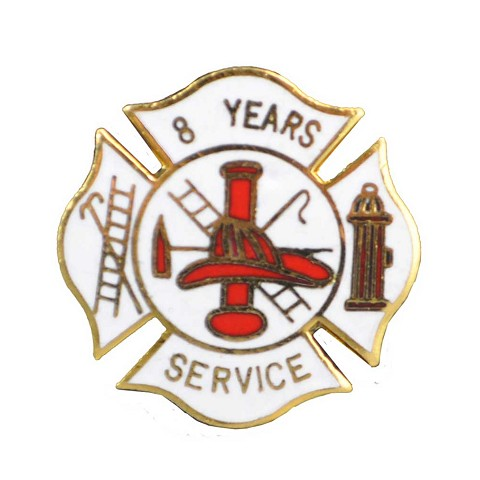 8 years Fire service pin
