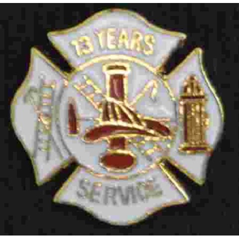 13 years Fire Service pin